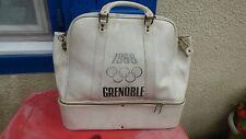 sac de sport Grenoble 1968 simili cuir blanc  vintage jeux olympiques