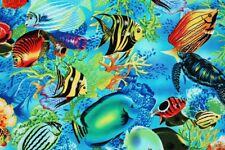 Tropical Fish printed Fabric by Michael Miller by the Yard