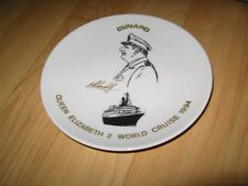 QE2 Cruise Ship Plate - 1994 Captain Robin Woodall Cunard Queen Elizabeth Boat
