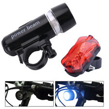 Cycling Bycicle Bike Tail Light Head Lamp 5 LED Front Rear Lamp Safety Warning