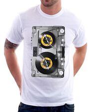 DJ TJESTO RETRO TAPE AWSOME MIX TRANCE OLD SCHOOL RAVE white t-shirt 9617
