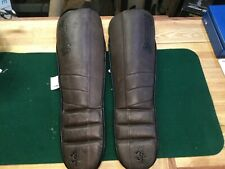 Hayabusa Leather Shin Guards Martial Arts Size Large XL - SEE PICTURES  !!