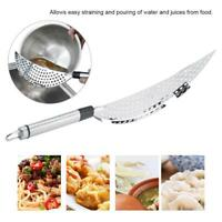 Stainless Steel Pot Drainer Strainer Sieve Filter Pasta Pot Pan Kitchen Colander