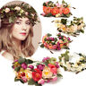Big Flower Wreath Crown Headband Garlands Hair Women Wedding Princess Elegant