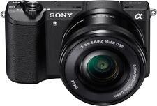 Sony Alpha A5100 24.3MP Digital SLR Camera with E PZ OSS 16-50mm Lens - Black