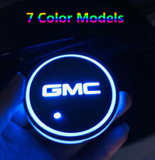 2x for GMC RGB LED Car Cup Holder Bottom Pad Mat Auto Interior Atmosphere Lights