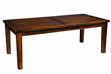 Banquet Double Extension Dining Table  synchronised ext. rustic brown mango wood