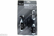 XLC CO2 Bicycle Inflator Kit With 3 16g Threaded Cartridge Tire Pump