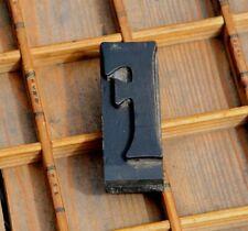 art nouveau letter: F rare wood type letterpress printing block woodtype font