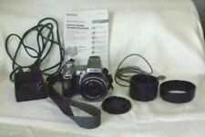 2005 Sony DSC-H1 Cyber-shot camera w/ cords, battery charger & manual