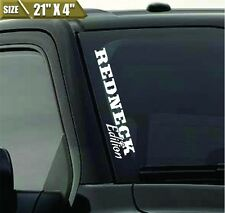 Redneck Edition Windshield Banner Vinyl Decal Sticker Decal Fits Ford F150 Jeep