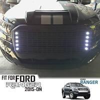 FRONT BLACK GRILLE GRILL 10 LEDs FOR FORD RANGER MK2 PX2 XLT 15 16 17 18