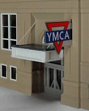 Miller Engineering HO Scale - Vertical YMCA - Lighted Animated Sign NEW #3072
