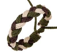 Bohemia Retro Men Women Hemp Rope Handmade Braid Bangle Cuff Bracelet Wristband