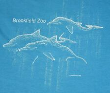 Vtg 1980s Brookfield Zoo Chicago Dolphins T Shirt Tee Soft Thin Blue Usa Medium