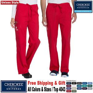 Cherokee Scrubs CORE STRETCH Unisex Uniform Elastic Waistband Cargo Pant 4043