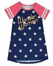 Wonder Woman Girl's Super Hero Star Polyester Nightgown, Gown