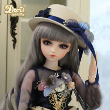 60cm 1/3 BJD Doll Ball Jointed Beauty Girl Eyes Face Makeup Wig Clothes Hat Set