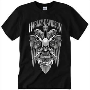 HOT Harley-Davidson Willie G Skull Distressed Motorcycle T-shirt S-5XL