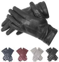 Women's Genuine Leather Winter Gloves Cold Weather Gloves Fur Lined Warm Fashion