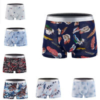 Men Thin Ice Silk Bottoms Shorts Pants Underwear Separate Pouches Boxers Brief