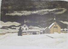 Ernest Fiene - Deep Winter 2  ( Connecticut River Farm View) Signed print