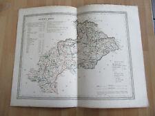 GRANDE CARTE COULEURS 1860 HAUTES ALPES PAR DUFOUR COULEURS