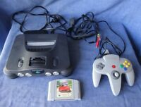 Vintage Nintendo 64  Video Game Console, Controller & Game. Works