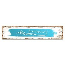 SP0391 SWIMMING Street Chic Sign Bar Store Shop Cafe Home Wall Interior Decor