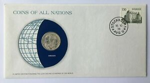PNC154) Sweden 1978 Coins of All Nations Limited Edition Coin & Stamp PNC/FDC