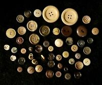Fabulous Lot Of 50 Assorted Vintage Earth Tone Buttons