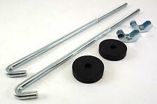 8'' Battery Hold Down Bolts M6 Threads Complete Replacement Set