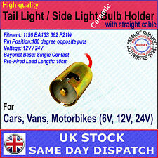 Replacement Car Bulb Holder CONNECTOR Indicator Stop Tail Brake Light 382 BA15S