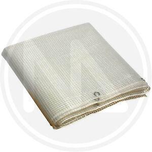 Telone occhiellato telo pvc tenda balcone retinato copertura esterna 140 gr/mq