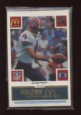 1986 McDonalds FB Buffalo Bills Blue Set NRMT/MT