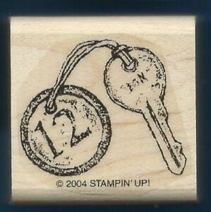 KEY HOTEL ROOM 12 Style Design STAMPIN' UP! 2004 Wood Mount Craft RUBBER STAMP