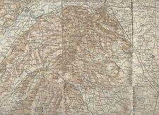 cartina alpina - carmagnola - asti- 1:100.000 - in tessuto telato -