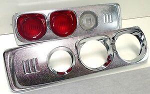 MAZDA RX3 SAVANNA 10A 12A S102A S124A CHROME TEA CUP TAIL LIGHT COVERS