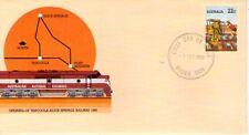 Australia Trenes Ferrocarriles entero postal año 1980 (S-616)