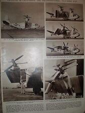 Article USAF Hiller X-18 tilt wing vertical take off aircraft unveiled 1959