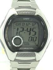 CASIO W-102D-1A MEN Digital Chronograph Stainless Steel Bracelet