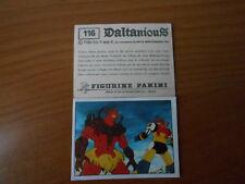 figurina DALTANIOUS n.116- ED. PANINI 1981 completa di velina