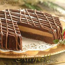 "☆Elegant!☆Decadent & Rich Layered Chocolate Buckeye Cake ""RECIPE☆Buckeye Heaven!"