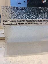 #578 168 Clear 8 x 6� Textured Wissmach Stained Glass Sheet Add Sheet Ship $