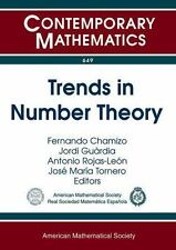 TRENDS IN NUMBER THEORY - CHAMIZO, FERNANDO (EDT)/ GUARDIA, JORDI (EDT)/ ROJAS-L