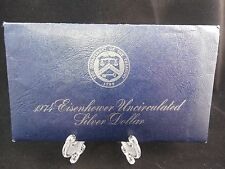 1974 EISENHOWER UNCIRCULATED 40% SILVER DOLLAR IN BLUE MINT PACKAGE