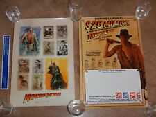 LOT OF 2 INDIANA JONES PROMO POSTERS, 1984 7 UP ADVERTISING, 2008 MOVIE RELEASE