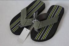 NEW Boys Flip Flops Size Medium 13 - 1 Black Gray Sandals Summer Shoes