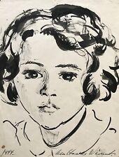 Ulla Haakø Weinert 1897-1967  Portrait Mädchen Mädchenkopf 1944
