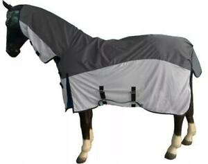 Pony Horse Lightweight Waterproof Turnout Fly Blanket Fixed Neck 2 In 1 Cover